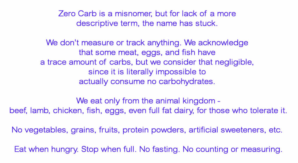 Zero Carb Description